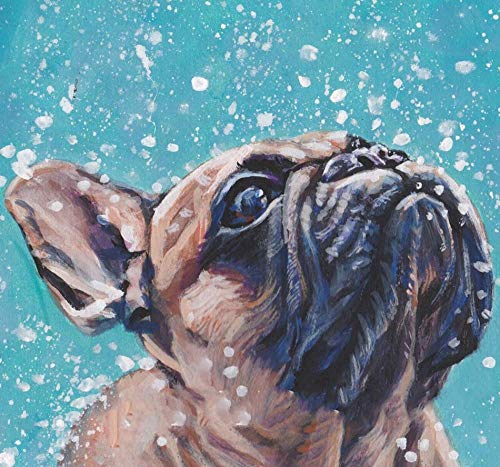5D Diamond Painting Kits for Adults & Kids Cute French Bulldog Round Rhinestone Embroidery Cross Stitch Arts Craft Canvas Wall Decor 15.7Inch19.7Inch