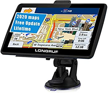 GPS Navigation for Car 7 inch HD Touch Screen Vehicle GPS Navigator Voice Traffic Warning Speed Limit Reminder GPS Navigation System with 8GB Large Storage Lifetime Maps Update for Free