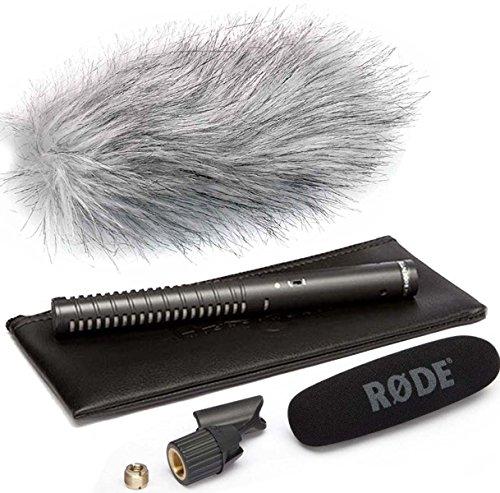 Rode NTG-1 - Micrófono de condensador direccional y protector contra el viento de piel WSWH