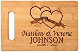 Personalized custom carved bamboo cutting board wedding gifts, anniversary, graduation, housewarming, real estate agent's mother's day, father's day gifts/gifts for chefs and chefs