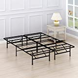 Simple Houseware 14-Inch Queen Size Mattress Foundation Platform Bed Frame, Queen