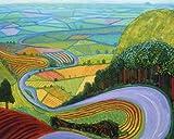 David Hockney Arte pop abstracto Paisaje idílico Campo Tierras de...