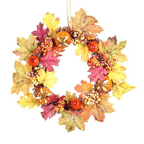 ANYIKE herfst esdoorn blad krans decor voor Thanksgiving partij huis, voordeur, muur, Mantelpiece, raamdecoratie