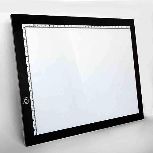 Tu satisfacción es nuestro objetivo Santonliso Tabla de práctica luminosa luminosa luminosa transparente del tablero de escritura del animado del tablero de la copia del tablero LED de la copia LED A4  Vuelta de 10 dias