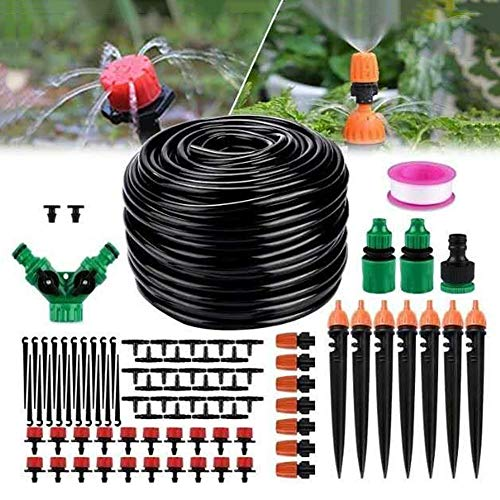 ASSR Kit de manguera de jardín automático de micro riego por goteo de 25 m, sistema de riego automático de riego por niebla
