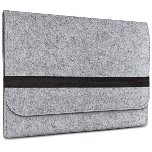 eFabrik Sleeve für Acer Switch Alpha 12 Schutz Filz Hülle Tasche, Farbe:Grau
