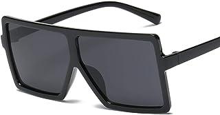 Rasfthyq - Gafas De Sol Retro Steampunk Montura Gafas De Sol Cuadradas Masculinas Hombres Todo Negro Gran Sol Grande Gafas para Hombres Gafas De Sol para Mujeres