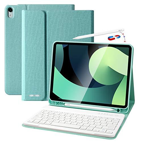 Funda Teclado iPad 10.9, Funda iPad 2020 con Ranura para Lápiz y...