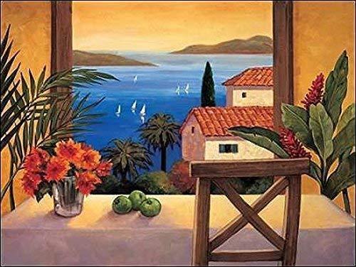 Keilrahmen-Bild - Elizabeth Wright: Ocean Breeze II 60 x 80 cm Leinwandbild