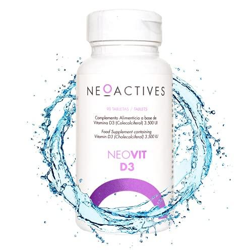 NeoVit D3 | Suplemento con 3,500 U.I. de vitamina D en forma de D3 | sistema inmunitario y mantenimiento músculos, huesos y dientes | Complemento concentrado, solo 1 capsula día (90 cápsulas)
