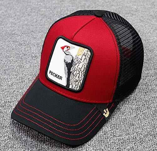 Nueva Gorra de béisbol con Bordado de Animales, Bonito Bordado de Anime, Malla de Verano para Hombres, Sombreros de Conductor de camión con sombrilla para Exteriores-a2-Adjustable