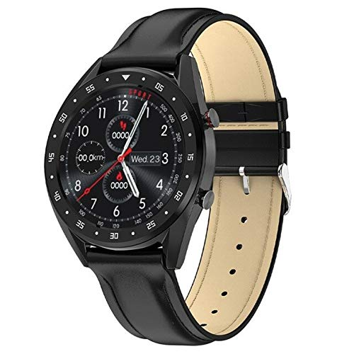 Bluetooth Smart Watch Men ECG + PPG Hrv Heart Rate Monitor De Presión Arterial Pulsera Inteligente A Prueba De Agua Android iOS L Negro