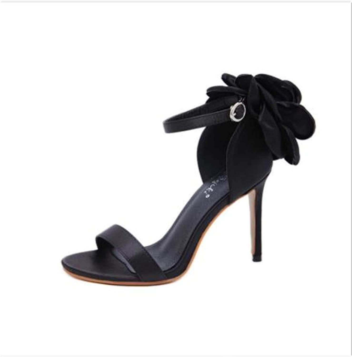 F1rst Rate Women's Sexy Strap Stiletto High Heel Pump Open Toe Ankle Strap Sandals