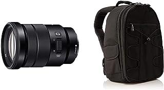 Sony SEL-P18105G G OSS - Objetivo para Sony/Minolta (Distancia Focal 18-105mm Apertura f/4) Color Negro + AmazonBasics - Mochila para cámara réflex y Accesorios Color Negro