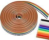 6 Metros Cable de Cinta Plana, 10 Colores Cable de Cinta de Cobre Estañado para Computadoras Automóviles Aires Acondicionados Pantallas LED