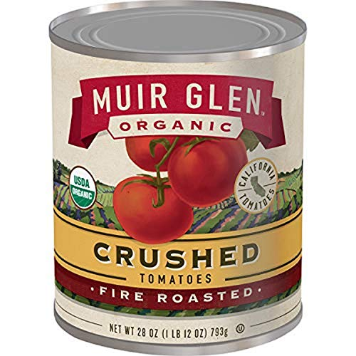 Muir Glen Fire Roasted Crushed Tomatoes, 28 Ounce (Pack of 6)