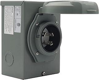 FAVOMOTO 30 Gerador Amp Plugue Gerador de Caixa de Entrada de Energia Com Indicador para Ao Ar Livre Gerador Receptáculo T...