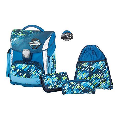 Schulranzenset Plus mit Federmappe, Schlamper und Sportbeutel, Flash, leicht, ergonomisch, 4 teilig