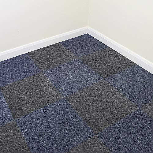 Losetas de Moqueta Azul Oscuro y Antracita 2 Pack de 20 Losetas 10m2 50cm x 50cm Moqueta Hogar Oficina