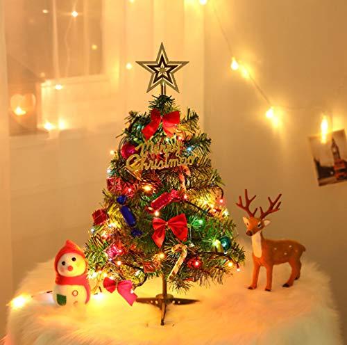 HaavPoois Árbol de Navidad de Mesa preiluminado de 20/ 50cm, Mini Adornos de árbol de Pino de Navidad de Escritorio Artificial 2020 con Luces LED para decoración de Navidad, hogar, Cocina y Comedor