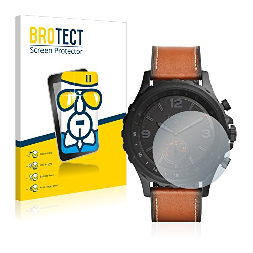 BROTECT Panzerglas Schutzfolie kompatibel mit Fossil Q Nate - AirGlass, 9H Festigkeit, Anti-Fingerprint, HD-Clear