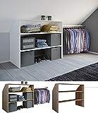 VCM Kleiderschrank Wandständer Dachschräge Kleider Regal Garderobe Dacho Weiß