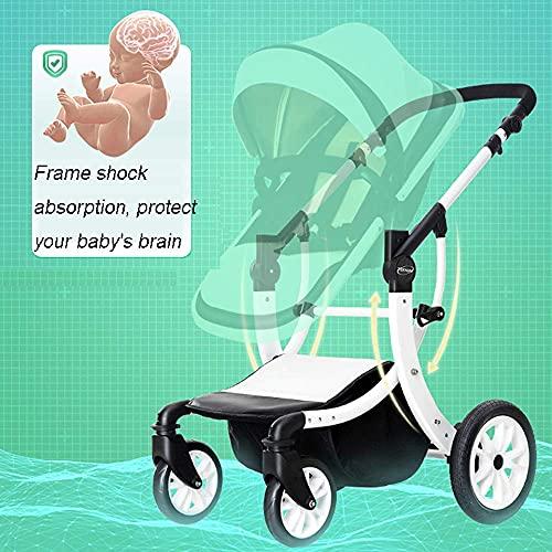 YANGHONG- Cómodas sillas de sillas 2 en 1 cochecito buggy bebé niño shotchair alto paisaje niños cochecito sillas de viaje Sistema de viaje Mosquitero Neto Botella Soporte plegable, azul OUZDZDYRC-5