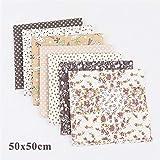 SHINEFUTURE Baumwollstoff meterware Stoffpaket 7 Stück je