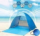 Xndryan Beach Tent Pop Up, Outdoor Automatic Instant Foldable Sun Tent Portable UV