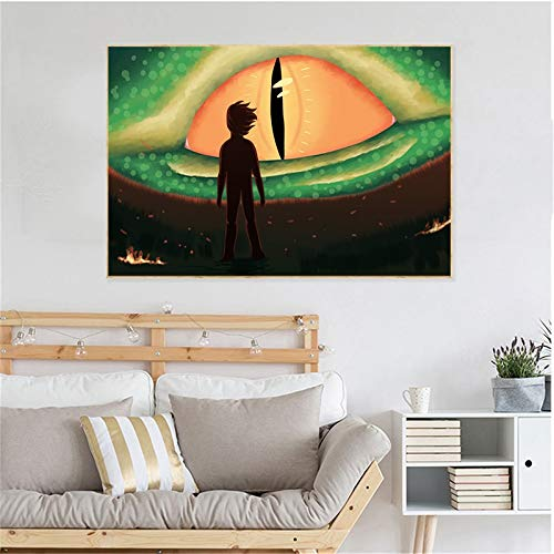 YuanMinglu Hidden World Zhonglong Train Poster Impresiones Lienzo Arte de la Pared Decoración Pintura Fotos Habitación Infantil Decoración Familiar Arte Pintura sin Marco 72x108cm: Amazon.es: Hogar