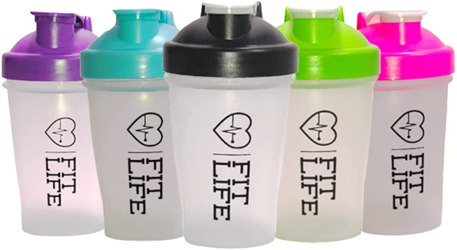 Fit for Life Shaker Bottle Cup 13.5 oz, The Classic Shaker Bottle for Highest Nutrition Protein blender, Water Bottle to go and Pre Workout Gym Bottle Mixer with Dishwasher Safe & Leak Proof (Black)