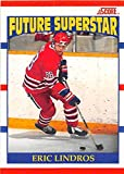 Eric Lindros hockey card (Flyers Oshawa) 1990 Score #440 Rookie. rookie card picture