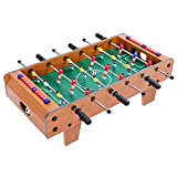 Dprodo Foosball Table, Mini Football Table with Wood for Adults and Kids, Portable Soccer Game , Foosball Table Top, Party Entertainment | Soccer Gifts for Men…