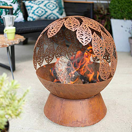 La Hacienda Leaves Fire Globe Firepit