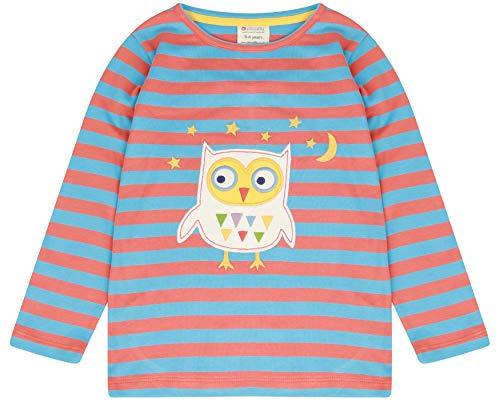 Piccalilly Haut pour enfant en jersey de coton bio doux sans produits chimiques Motif hibou - Multicolore - 6-12 mois