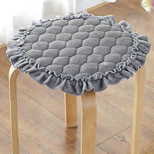 DJ stoelkussen, rond, kant, wasbaar, antislip, van fluweel voor barkrukken, voor rode stoelen, grootte multiple-diameter: 55 cm (22 inch)