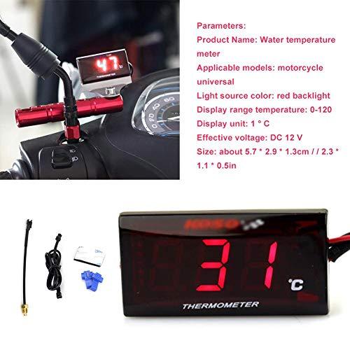 AIflyMi Universal Motorrad Digital Thermometer Wassertemperatur Messgerät für das Laufen des Rollers