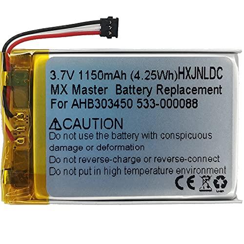 Batteria ricaricabile ai polimeri di litio DC 3.7V 1150 mAh per mouse da gioco wireless Logitech MX Master (AHB303450 533-000088)