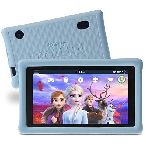 """Pebble Gear 7"""" Kids Tablet, 7 Zoll HD Display (1024 x 600), Tablet für Kinder mit kindgerechter Hülle im Die Eiskönigin 2 -Design, inklusive Elternkontrolle, Spielen, E-Books, Apps und vielem mehr"""