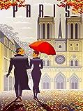 Poster Notre Dame Kathedrale von Reims Paris im Herbst