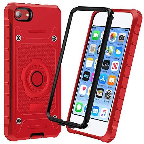 iMangoo Coque pour iPod Touch 7, Coque iPod Touch 6/5 - Anti-Rayures - Haute Performance - Protection Contre Les Chocs - Anti-poussière pour Apple iPod Touch 7e/6e/5ème Génération, Rouge