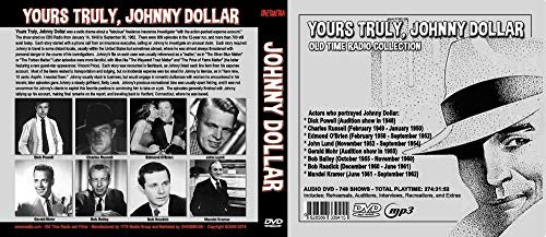 YOURS TRULY JOHNNY DOLLAR - OLD TIME RADIO - 2 DVD - 721 episodes - Total Playtime: 259:21:41