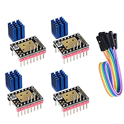 PoPprint TMC2208 V3.0 STEP Mode New Improved Silent Step Engine Driver Suit SKR V1.3 E3DIP Controller Card for DIY 3D Printers (4pcs/bag)