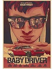 Poster Baby Driver Klassieke Film Serie Vintage Retro Posters En Prints Canvas Schilderij Muursticker Moderne Woninginrichting 50 * 70 Cm Geen Frame