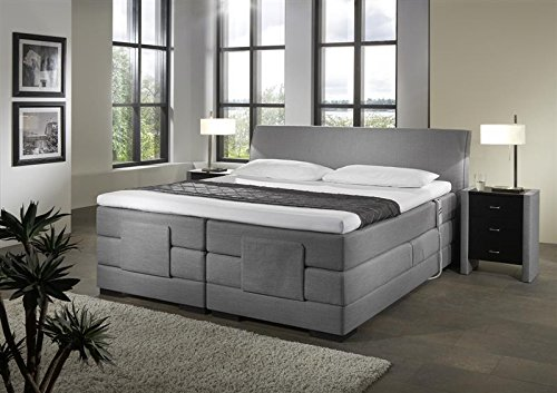 Breckle Boxspringbett 200 x 200 cm Napoli Box Elektro Inspiration Hollanda TFK Topper Gel Comfort