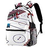 Sac à Dos pour Enfants Cartable léger Enfants Sac d'école Primaire Grande capacité préscolaire Maternelle Livre Sac de Voyage Hockey sur Glace