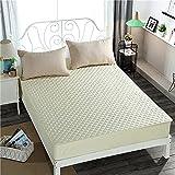 NTtie Protector de colchón - cubrecolchón Transpirable Colcha Hotel 100% algodón de una Pieza