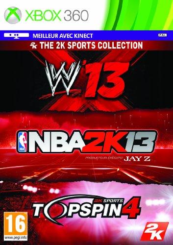 NBA 2K13 + Top Spin 4 + WWE 13 - Xbox 360 [video game]