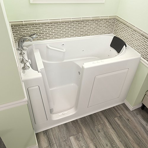 "American Standard 3060.109.CLW Gelcoat Whirlpool and Air Spa 30""x60"" Left Side Door Walk-In Bathtub in White"