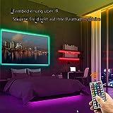 15m Tira LED Bluetooth, 16 Millones Colores 64 Modos Escena, Sync Música Luces LED RGB Control de App para Habitación, Cocina, Pared, Navidad, cumpleaños, fiesta, Bricolaje, Decoración del Hogar